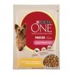 """Purina One паучи для взрослых собак малых пород с индейкой, морковью и горохом в подливе """"Любитель поесть"""" , One My Dogis Foodlover"""